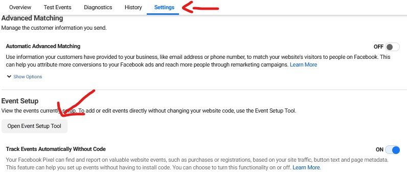 Select Event Setup Tool